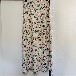 Vintage [Clio] Floral Maxi Skirt